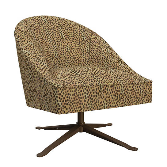 Cheetah Linen Embrace Chair