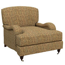 Cheetah Linen Litchfield Chair