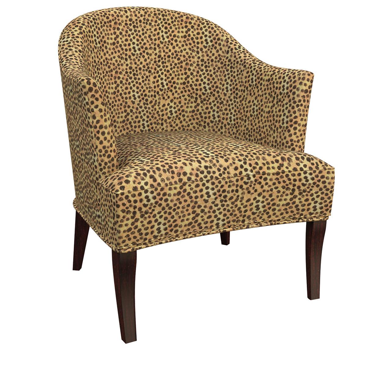 Cheetah Linen Lyon Chair