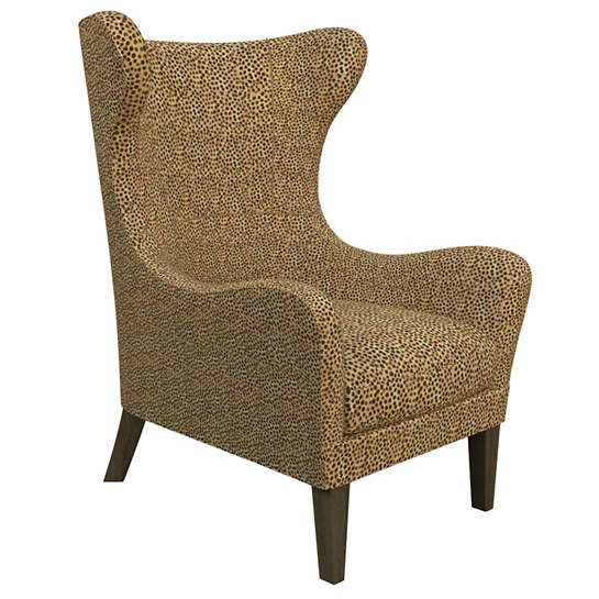 Cheetah Linen Mirage Smoke Chair