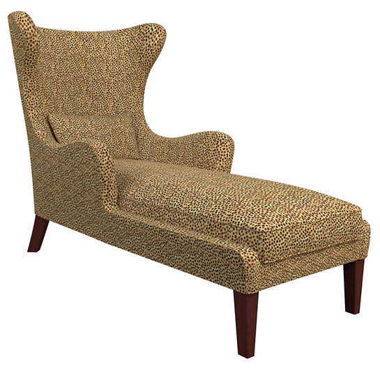 Cheetah Linen Mirage Tobacco Chaise