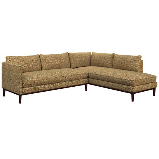 Cheetah Linen Paseo Sectional
