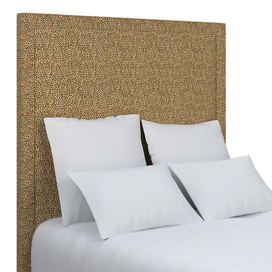 Cheetah Linen Stonington Headboard