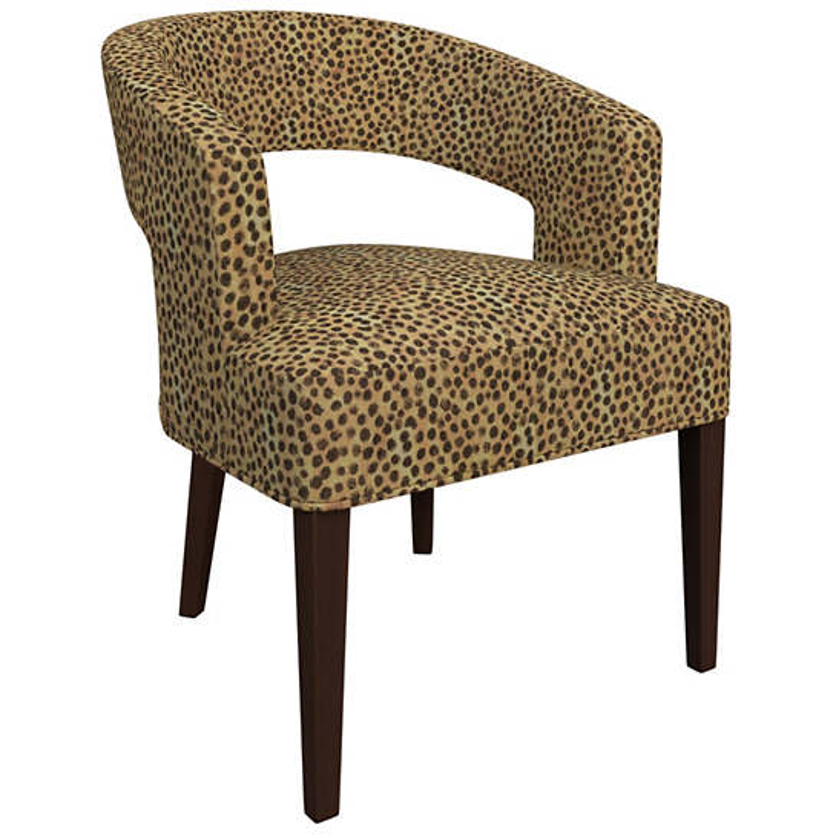Cheetah Linen Wright Chair