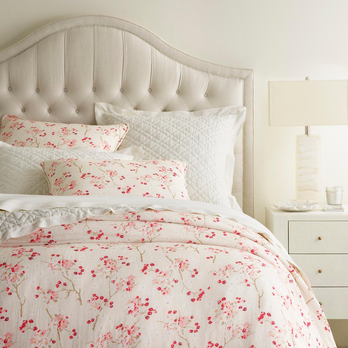 Cherry Blossom Linen Duvet Cover