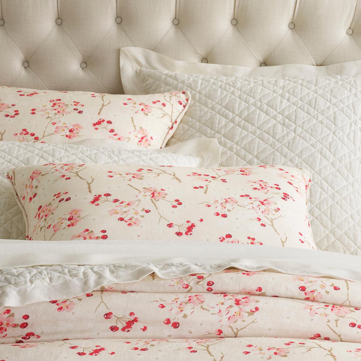 Cherry Blossom Linen Sham