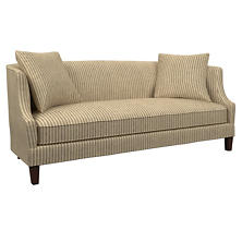Adams Ticking Brown Cheshire Sofa