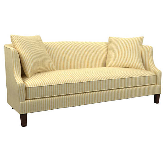 Adams Ticking Gold Cheshire Sofa