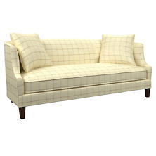 Chatham Tattersall Light Blue/Natural Cheshire Sofa