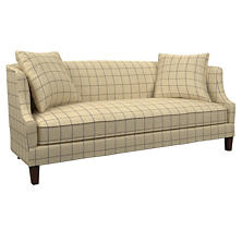 Chatham Tattersall Navy/Brown Cheshire Sofa