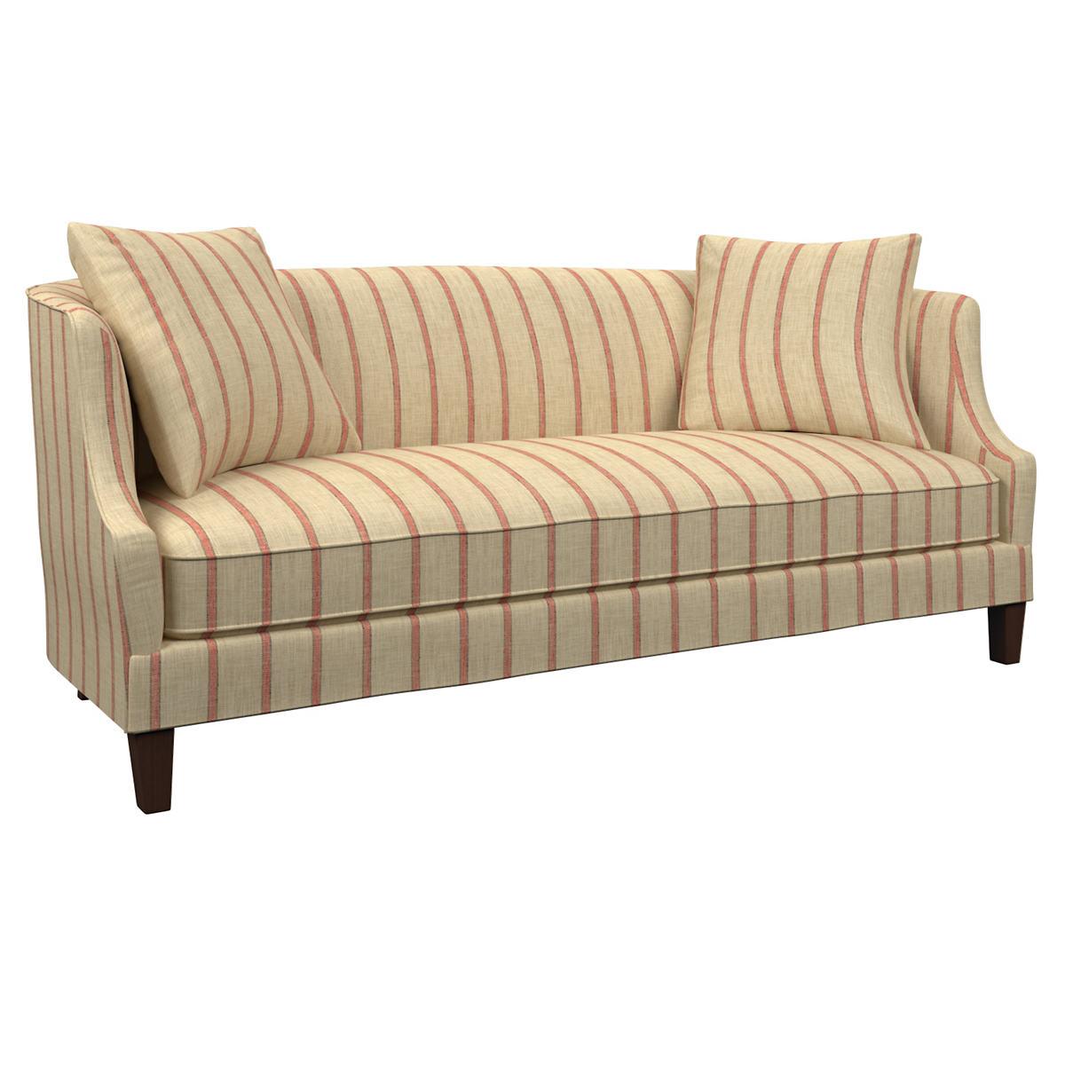 Glendale Stripe Brick/Brown Cheshire Sofa