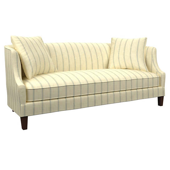 Glendale Stripe Light Blue/Natural Cheshire Sofa