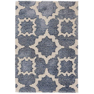 China Blue Tufted Wool Viscose Rug