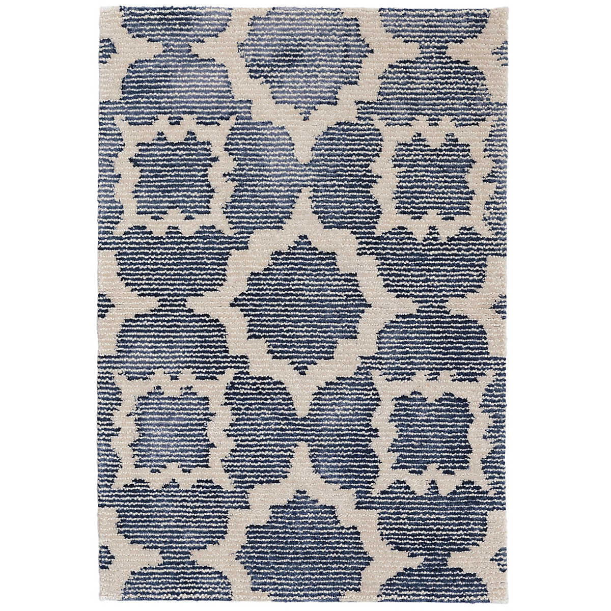 China blue tufted wool viscose rug dash albert for Dash and albert blankets