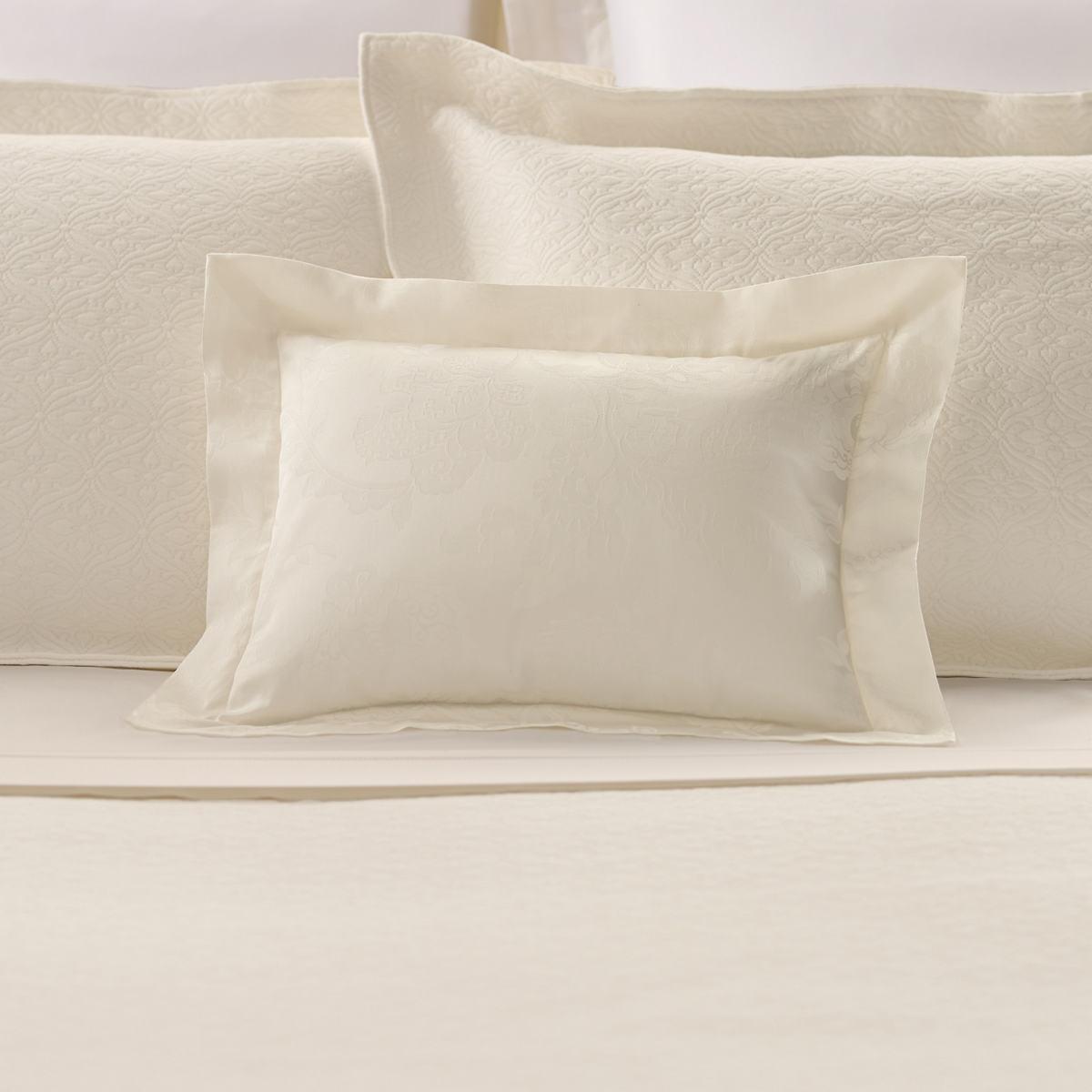 Chinois Damask Ivory Decorative Pillow