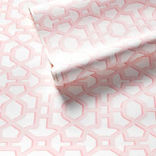 Chinois Lattice Pink Wallpaper