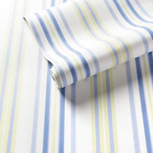 Chloe Stripe Sky/Blue Wallpaper