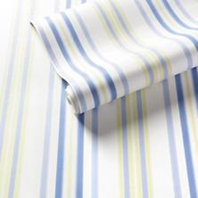 Chloe Stripe Sky/Blue Wallpaper