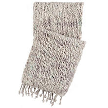 Chunky Knit Grey Throw