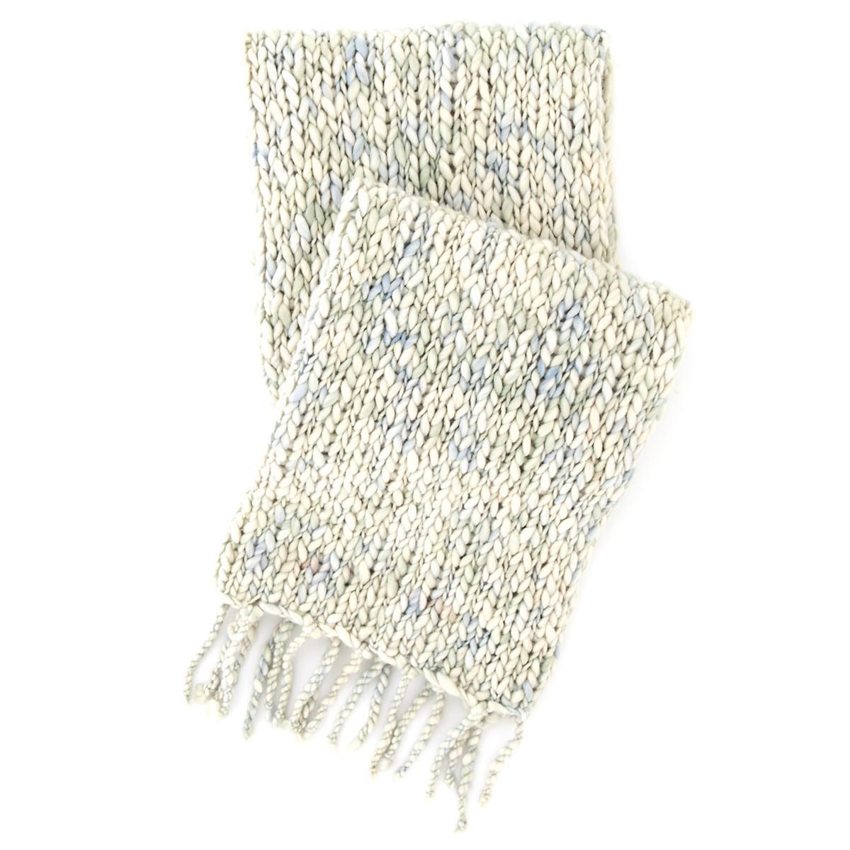 Chunky Knit Mist Throw