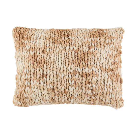 Chunky Knit Sand Decorative Pillow