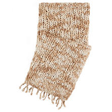 Chunky Knit Sand Throw