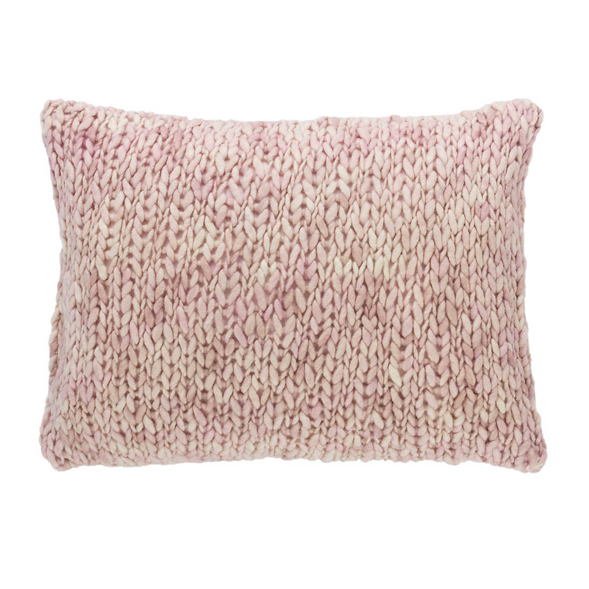 Chunky Knit Pink Decorative Pillow Pine Cone Hill