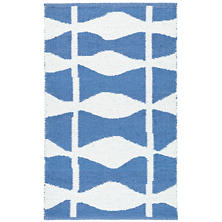 Circuit French Blue Indoor/Outdoor Rug