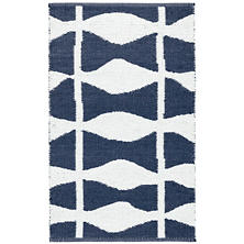Circuit Navy Indoor/Outdoor Rug