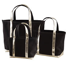 City Canvas Black/Gold Tote Bag