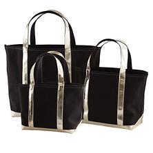 City Canvas Black/Gold Tote Bag