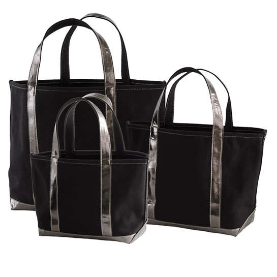 City Canvas Black/Pewter Tote Bag