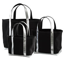 City Canvas Black/Silver Tote Bag