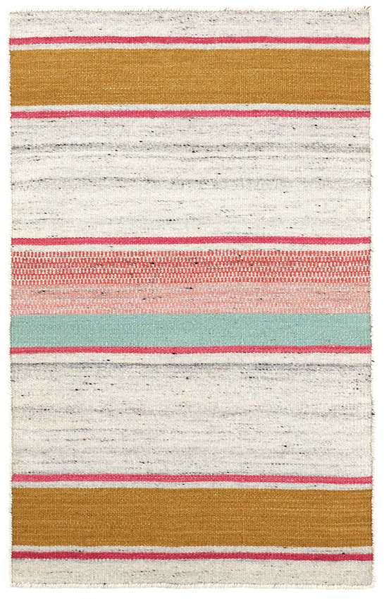 Claire Stripe  Woven Wool Rug