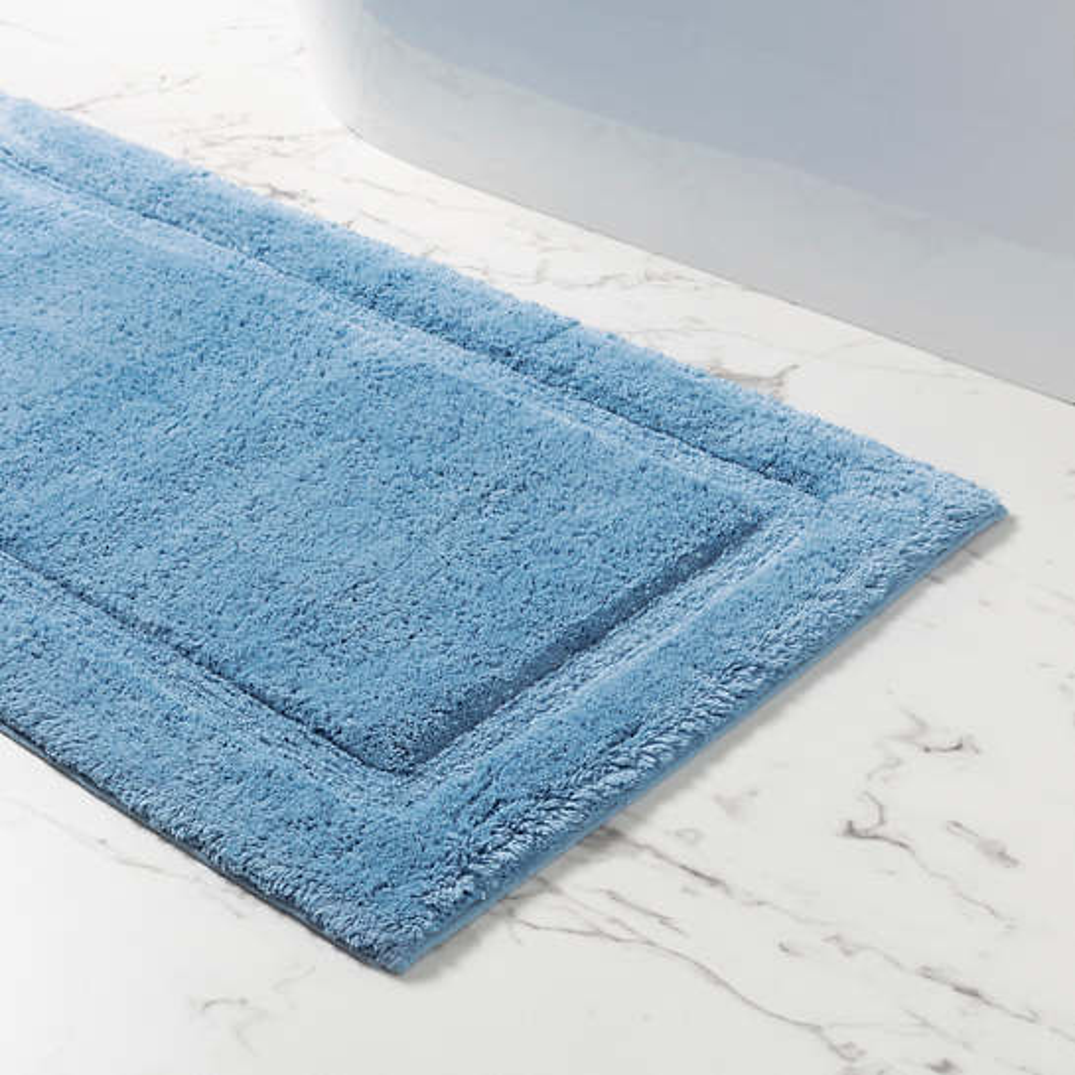 Classic French Blue Bath Rug