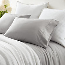 Classic Hemstitch Grey Sheet Set