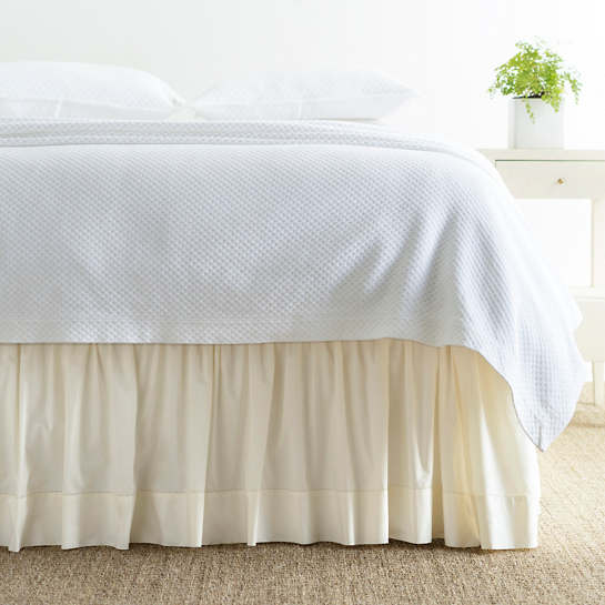 Classic Hemstitch Ivory Bed Skirt