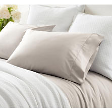 Classic Hemstitch Platinum Pillowcases (Pair)