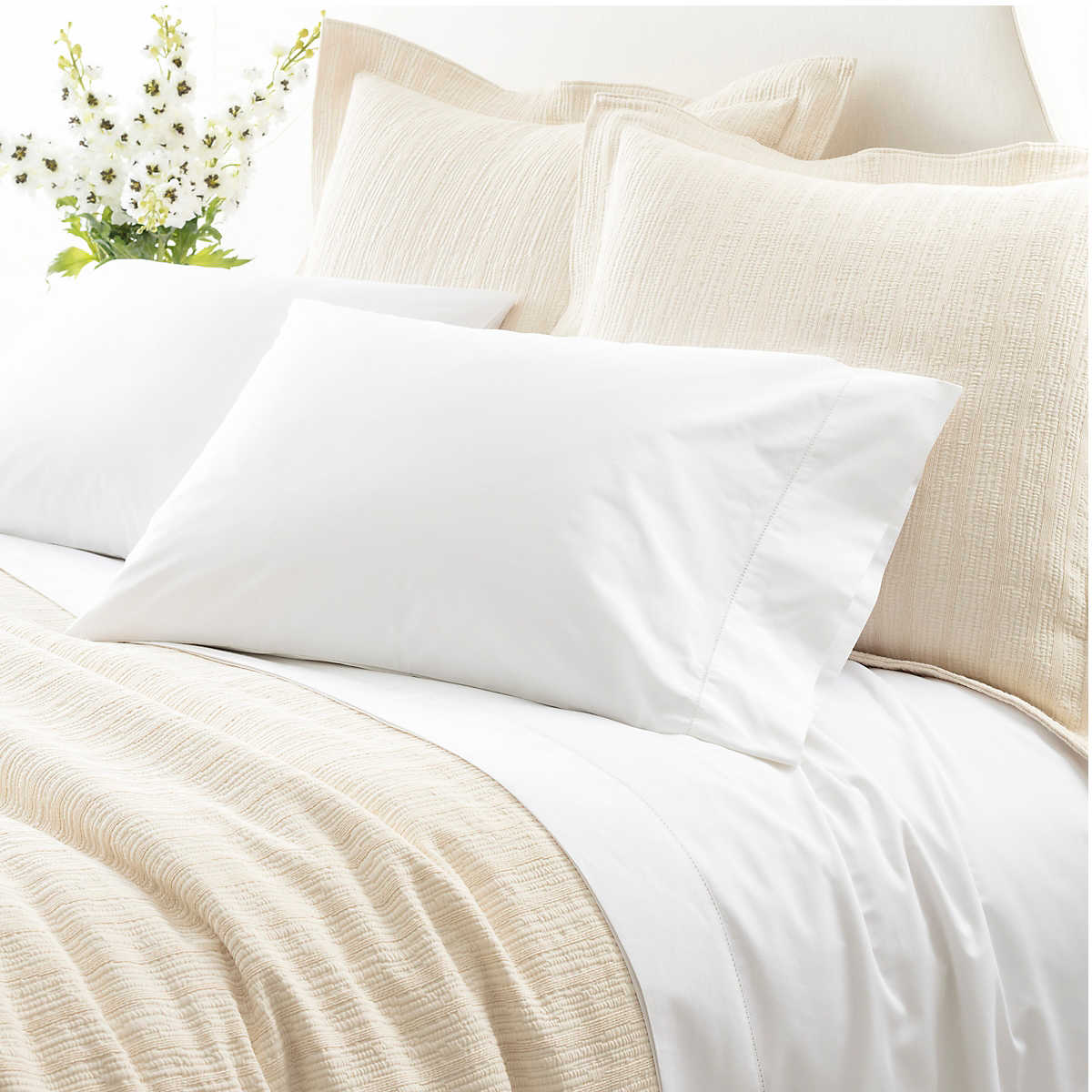 Best Er Clic Hemsch White Sheet Set