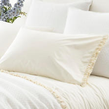 Classic Ruffle Ivory Pillowcases (Pair)