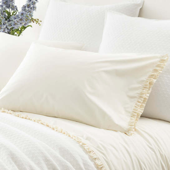 Classic Ruffle Ivory Pillowcases