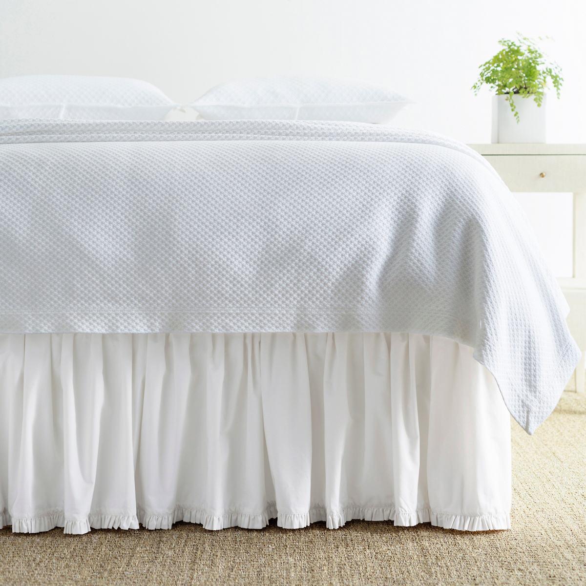 Classic Ruffle White Bed Skirt