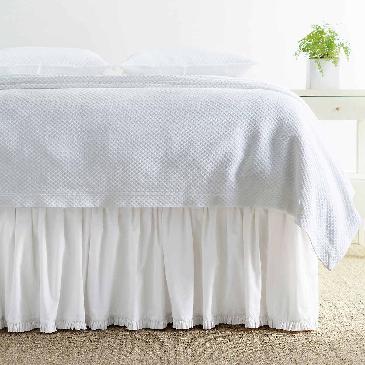Classic Ruffle White Bed Skirt Pine Cone Hill