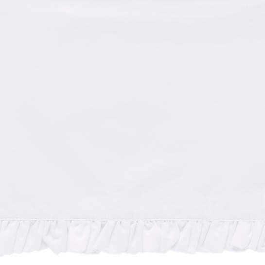 Classic Ruffle White Sheet Swatch