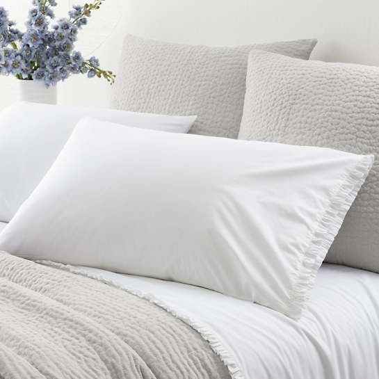 Classic Ruffle White Pillowcases