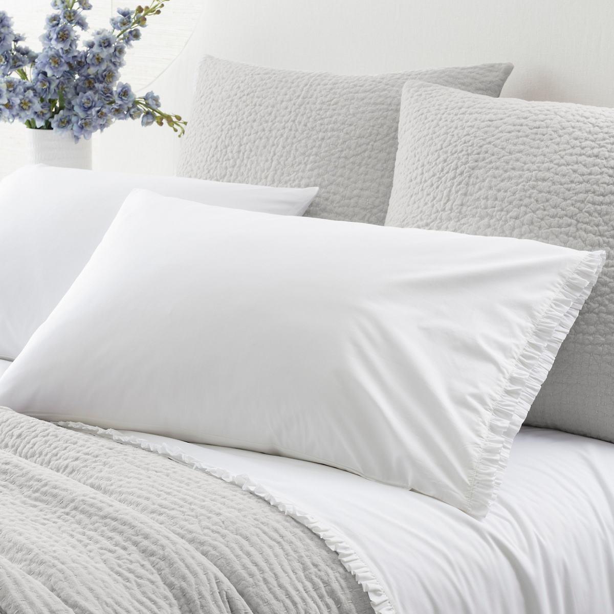 Classic Ruffle White Pillowcases (Pair)