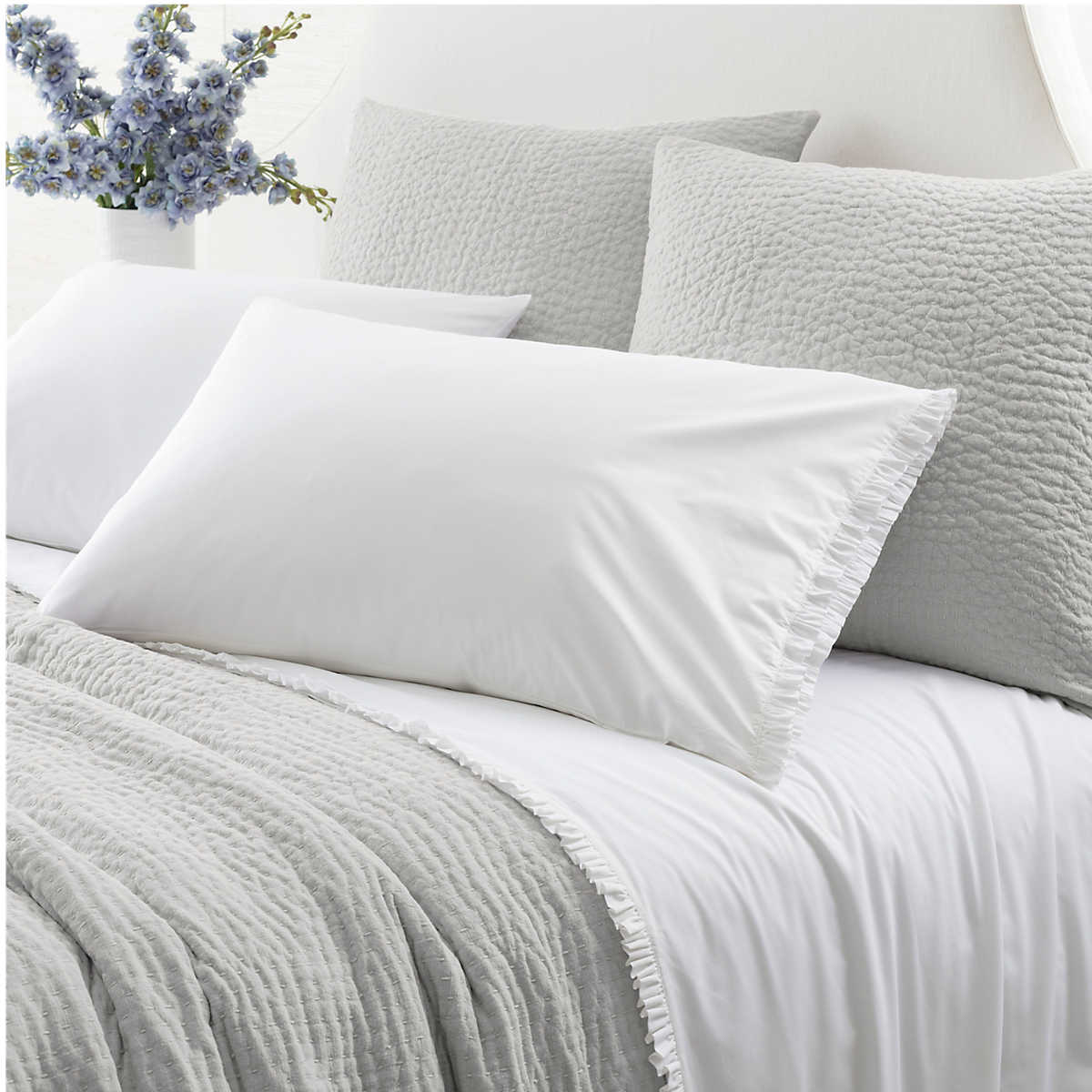 Classic Ruffle White Sheet Set Pine Cone Hill
