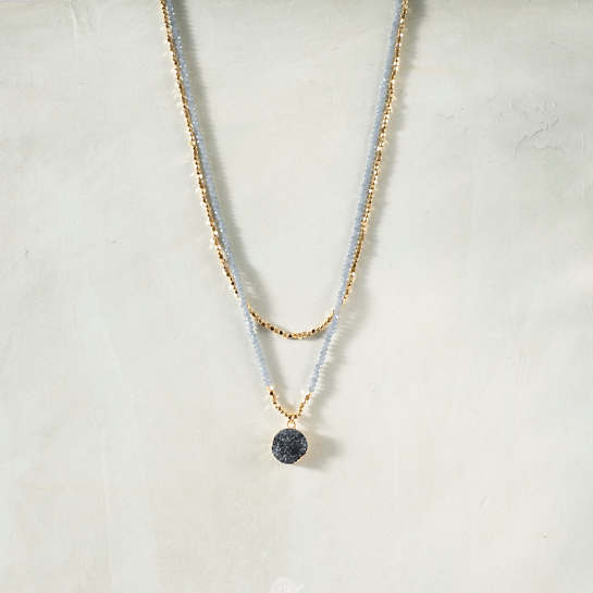 Claudette Hematite Necklace