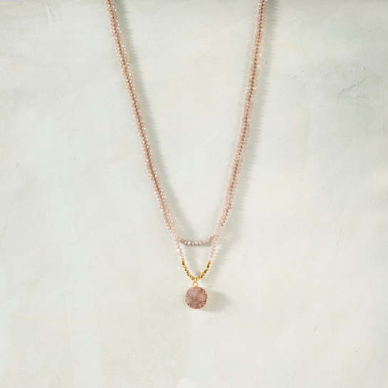 Claudette Rose Necklace