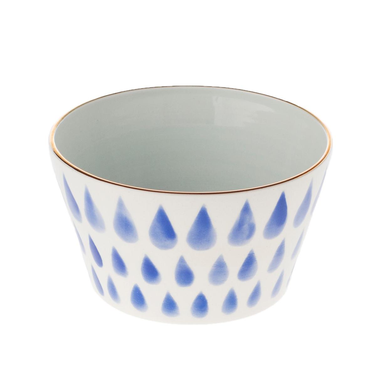 Cobalt Raindrops Bowl